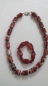 Colar C/pulseira De Pedras Naturais(verdadeiras). 2