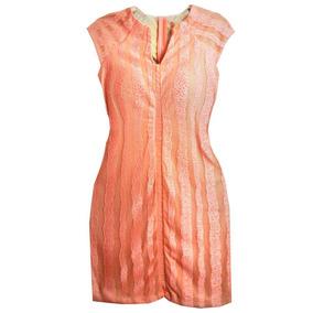 Vestido Tubinho Coral Com Decote Nas Costas Roupas Femininas