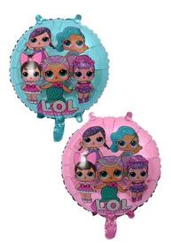 Balão Metalizado Boneca Lol Surprise 45*45cm - Kit C/ 10