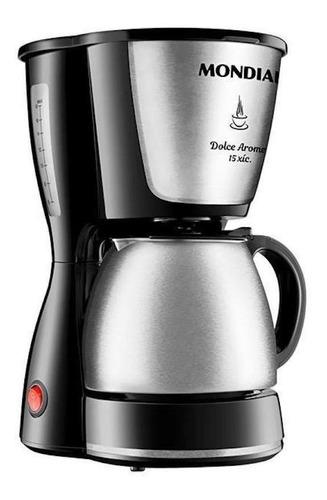 Cafeteira Elétrica Mondial Dolce Arome Inox Preto 110v - C34