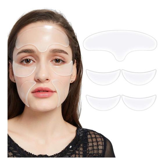 Paquete De 5 Almohadillas Antiarrugas Faciales De Silicona