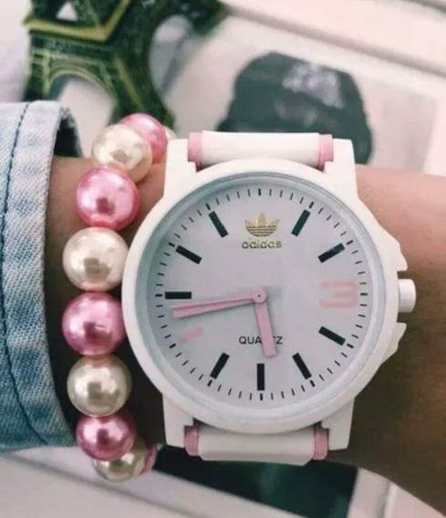 Relógios adidas + Bateria Extra De Brinde