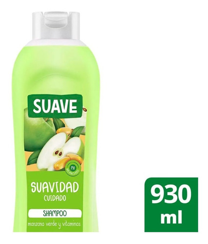 Shampoo Suave Suavidad Cuidado Manzana Verde Y Vit  930 Ml