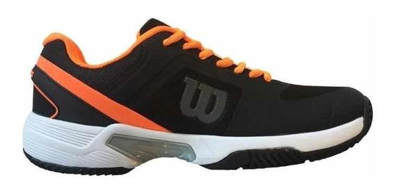 Zapatillas Wilson Set 2.0 Hombre Tenis Padel Negro/naranja