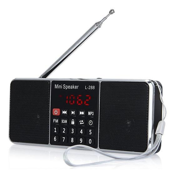 Rádio Zeepin L-288 Fm Stéreo Mp3 Mp4 Mp5 Digital Tela Lcd