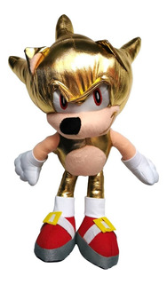 Sonic Peluche Super Sonic Dorado Chaos X 42cm Envio Gratis