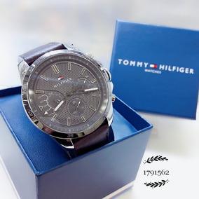 Relógio Tommy Hilfiger 1791562 Cinza Aço Inox Prata Couro