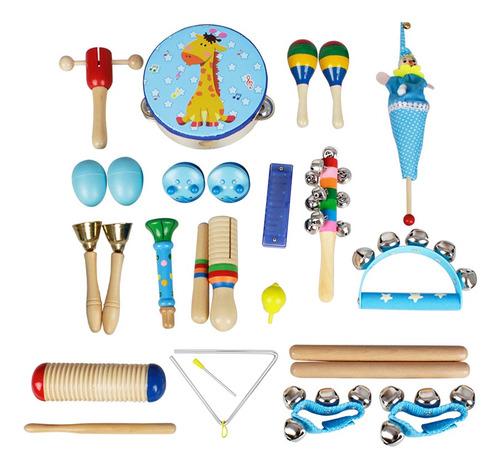 Imagen 1 de 9 de Musical Toys Instrumentos De Percusión Banda Ritmo Kit Para
