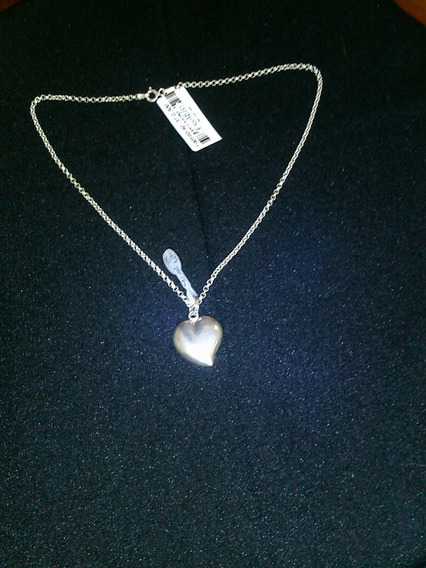 Corrente De Prata 925 C/ Ping Coração