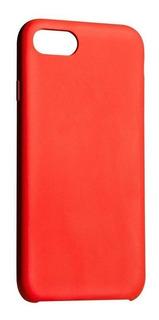 Capa iPhone 8 Plus / 7 Plus, Silicone Vermelho, Liquid, Pong