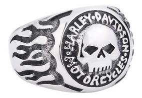 Anel Harley Davidson Aço Inox