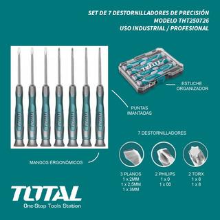 Set 7 Destornilladores Precisión Total Imán Industrial