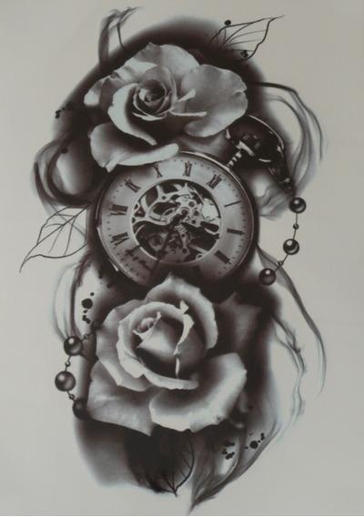 Tatuagem Temporaria - Perfeita - Realista Rosas