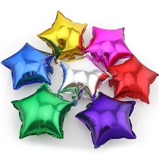 Globos Metalizados Forma Estrella 18 Pulgadas Varios Colores
