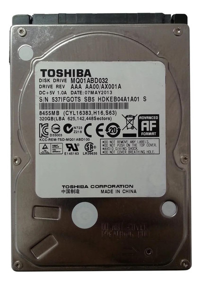 Disco rígido interno Toshiba MQ01ABD Series MQ01ABD032 320GB