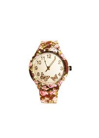 Relógio De Pulso Vestaria Florido Feminino Marrom Ra36-17