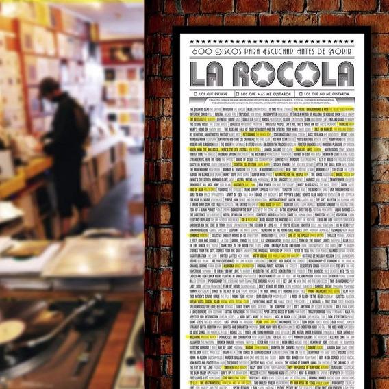 Poster Musica Rocola 600 Discos Marcar Regalo Ideal Melómano