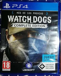 Watch Dogs Complete Edition Ps4, Nuevo Y Sellado