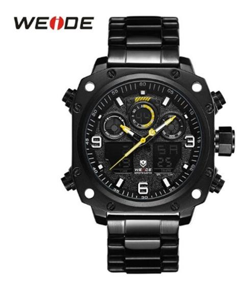 Relógio Masculino Weide Preto, Analógico E Digital, 3 Atm