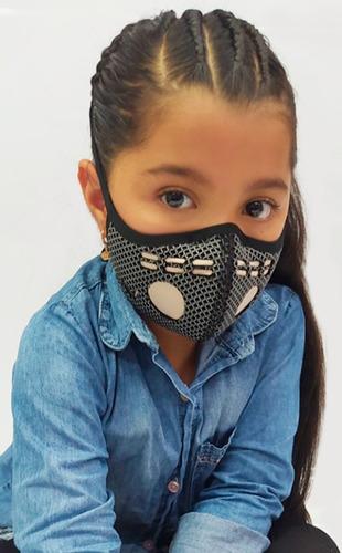Tapabocas Niños Lavable Hilos De Cobre Germicida Niños
