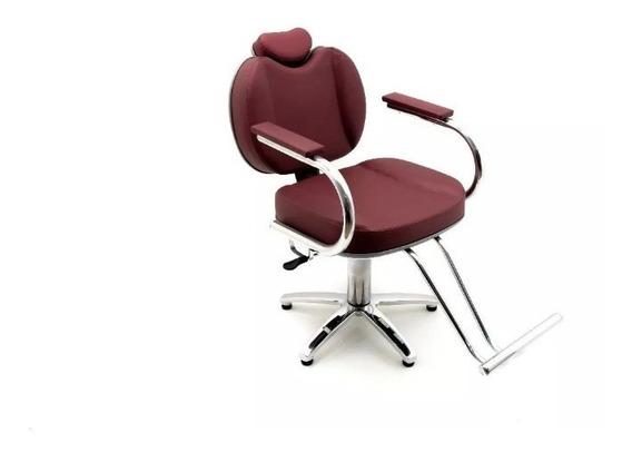 Poltrona Cadeira Rubi Reclinável Maquiagem Moveis Para Salão