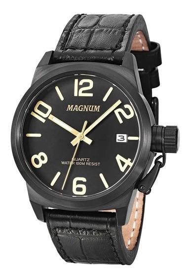 Relógio Masculino Analógico Magnum Ma33424p - Preto