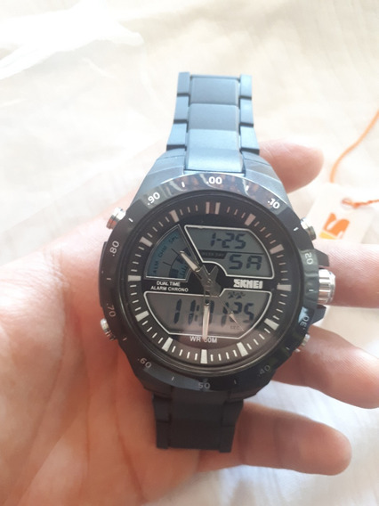 Relógio Skmei 1016 Preto Analógico Digital Á Prova D