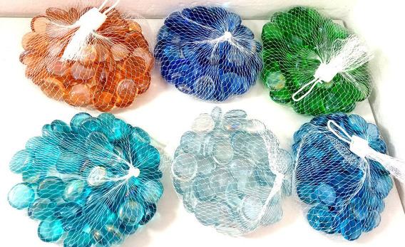 Gemas De Vidrio Bolsa Chica De 50 Unid Aprox Colores A Elec