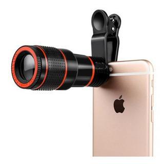 Lente Telescópica Super Zoom 12x Para Celular E Smartphone
