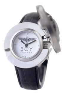 Reloj Hombre Vintage Boy London Con Malla De Cuero Negro