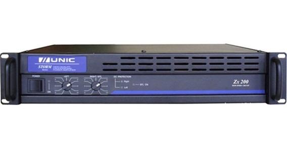 Potência De Som Unic Storm Series Zx200 - Amplificador