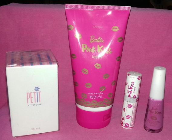 Kit Barbie Teens Pink Kiss Com Colonia Petit Atitude