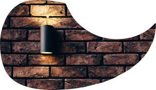 Escudo Palheteira Resinada Violão Aço Sônica Brick Wall