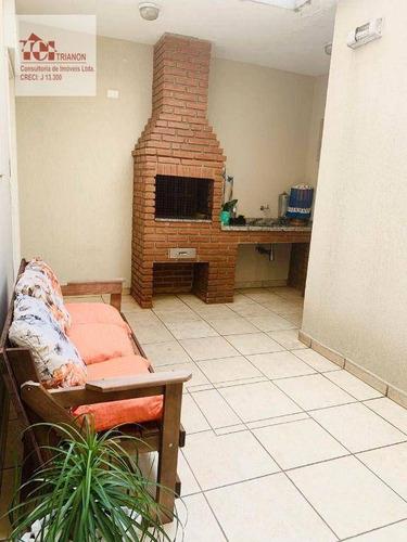 Imagem 1 de 26 de Sobrado Com 3 Dormitórios À Venda, 165 M² Por R$ 785.000,00 - Vila Bastos - Santo André/sp - So0633