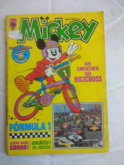 Mickey Nº 381 - Especial Formula 1 - Editora Abril - 1984