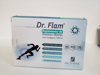 Dr Flam. Nova Fórmula. Muito Melhor. 40 Cápsulas.