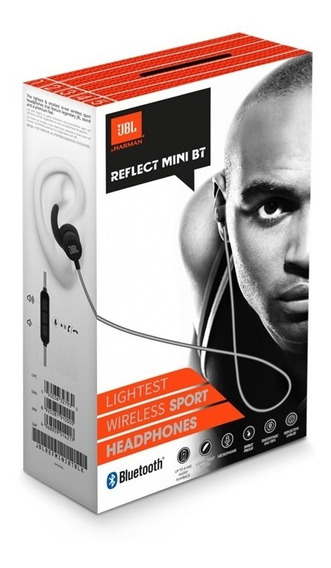 Fone De Ouvido Jbl Bluetooth Reflect Mini Bt Preto