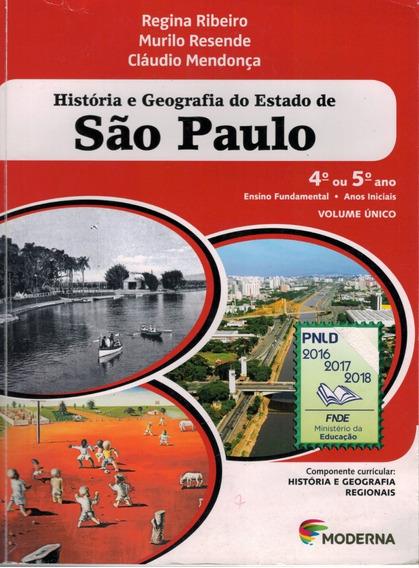 Livro História E Geografia Do Estado De São Paulo (4.o Ou 5)