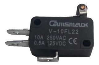 Pack Micro Switch V-10fl22 10a Leva Corta Con Rodillo
