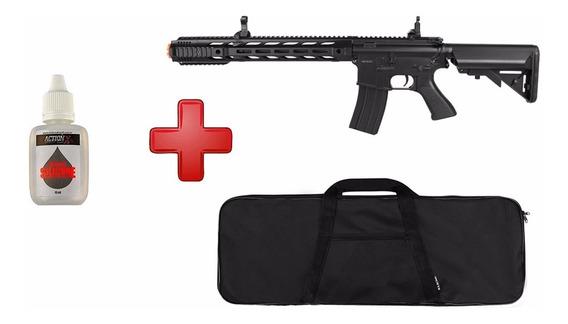 Rifle Airsoft Elétrico Cyma M4a1 Cm518 Preto+ Capa+ Silicone