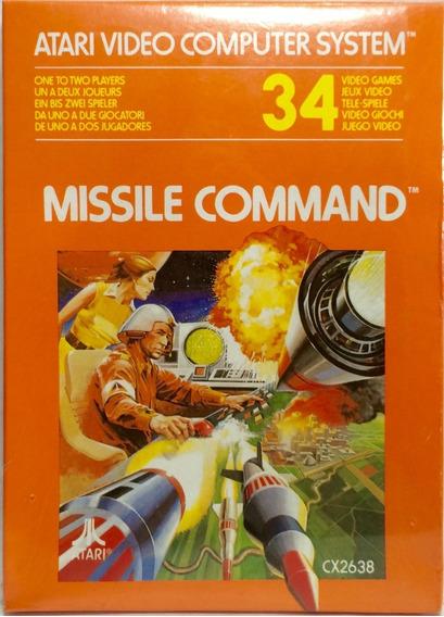Cartucho Jogo Game Missile Command Atari 2600 1981 Novo