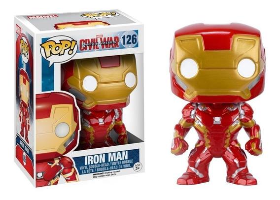 Funko Pop! Marvel Civil War Iron Man 126 Envío Incluido