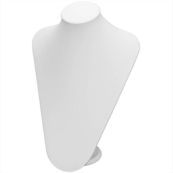Busto Expositor De Colar Para Vitrine (36 Cm) Branco
