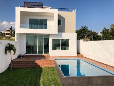 Residencia Premium, Alberca, 4 Recámaras. Oaxtepec, Mor.