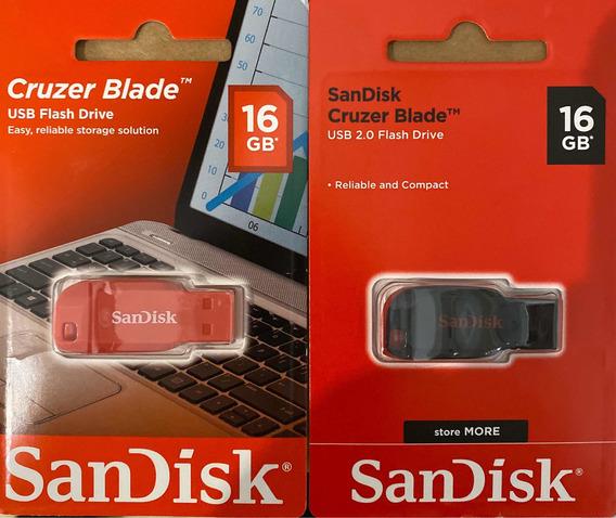 Pendrive Sandisk 16gb Curze Balde 100% Original