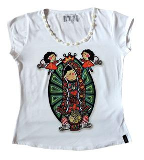 Camiseta Blusa Feminina T-shirt Nossa Senhora Religiosa 2019