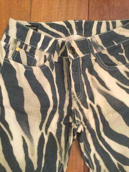 Calça Iódice Jeans Animal Print Zebra Tamanho 40 Skinny