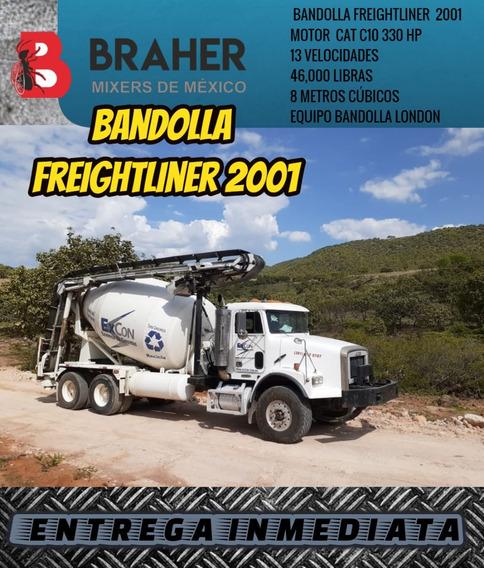 Bandolla Camión Revolvedor De Concreto 2001 Freightliner