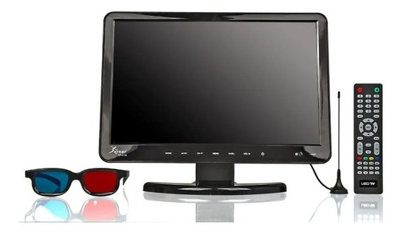 Monitor 15,4 Pol. Tv Digital Hd Com Dvd Hdmi Áudio Óculos 3d