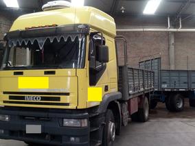 Camion Iveco Eurotrakker 410 Baranda Volcable Y Acoplado